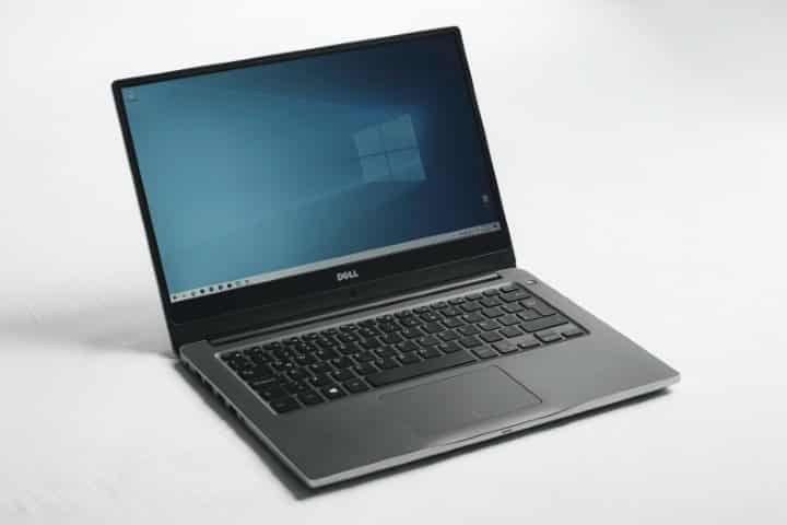 Close-up of Dell Laptop