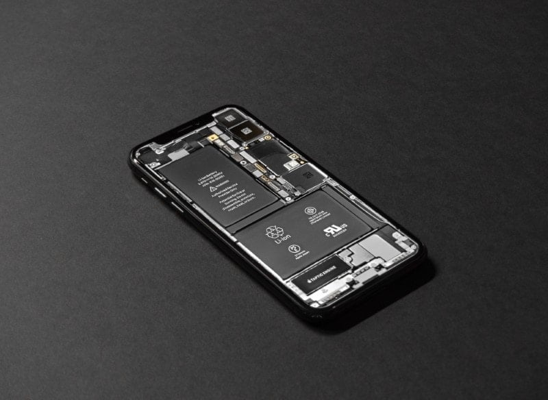 Close-up of iPhone being repaired