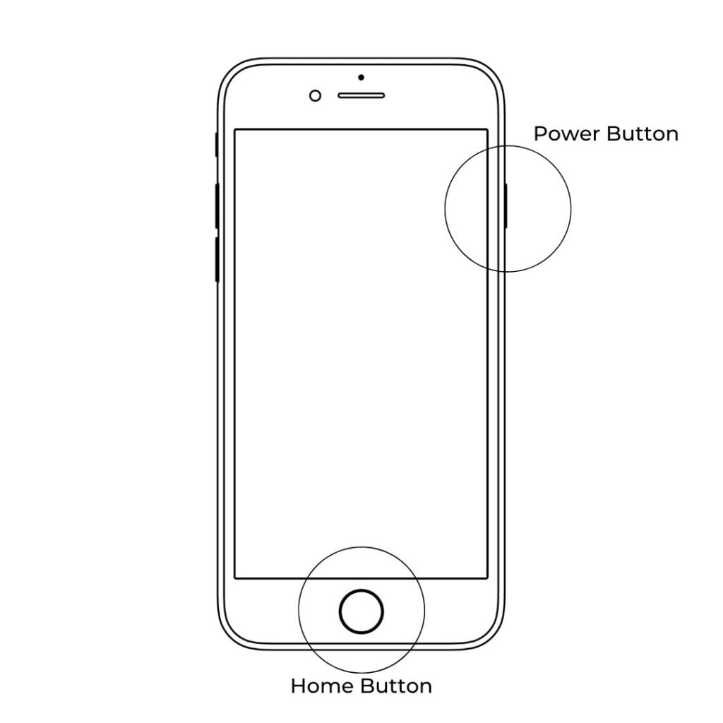 how to screenshot on iPhone with home button