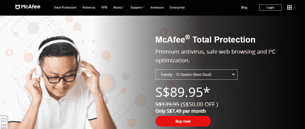 antivirus bet windows 10 - McAfee